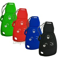 Silicone 3 Buttons Remote Car Smart Key Case Cover Fob Protector For Mercedes Benz B C