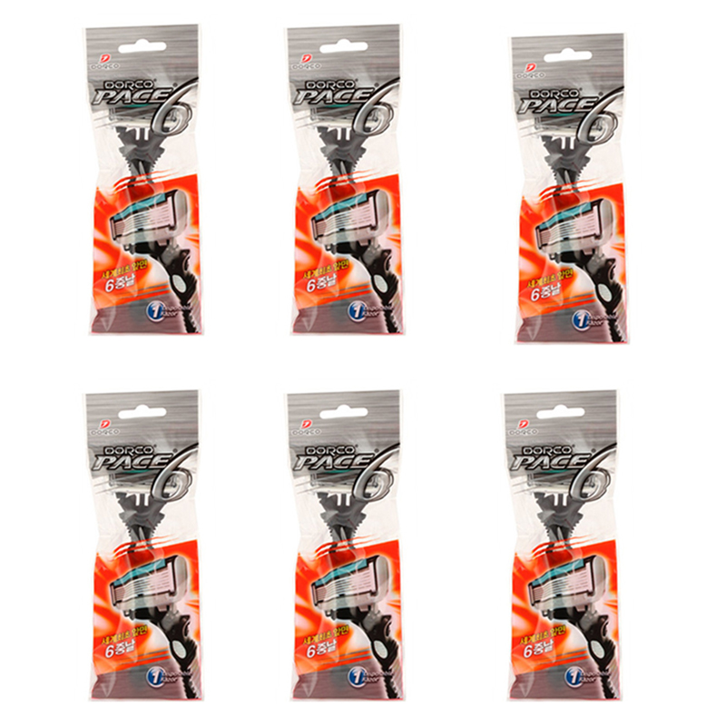 6pcs/pack Super Qualiy Personal 6 Blades Razor For Men Safe Shaver Comfort Shaving Razor Blades