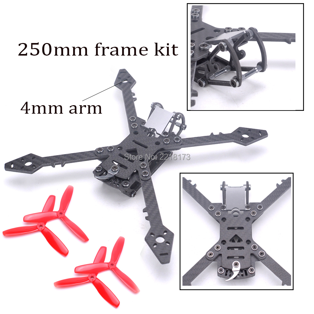 Freestyle Real3 250 250mm with 4mm Arm Carbon Fiber Frame Kit + 5045 3-blade propeller for RC Drone FPV Racing Quadcopter f04305 sim900 gprs gsm development board kit quad band module for diy rc quadcopter drone fpv