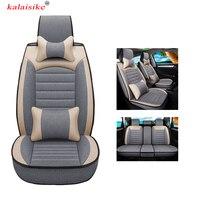 Kalaisike универсальные льняные Чехлы для автомобильных сидений для mazda Volkswagen Renault seat Ford Toyota BMW hyundai Kia автостайлинг аксессуары