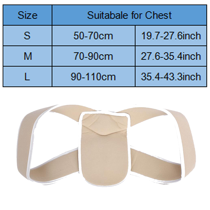 Yosoo Adjustable Posture Corrector Belt to Correct Upper Body Posture Provides Support to Shoulder and Back to Prevent Humpback and Curvature of the Spine