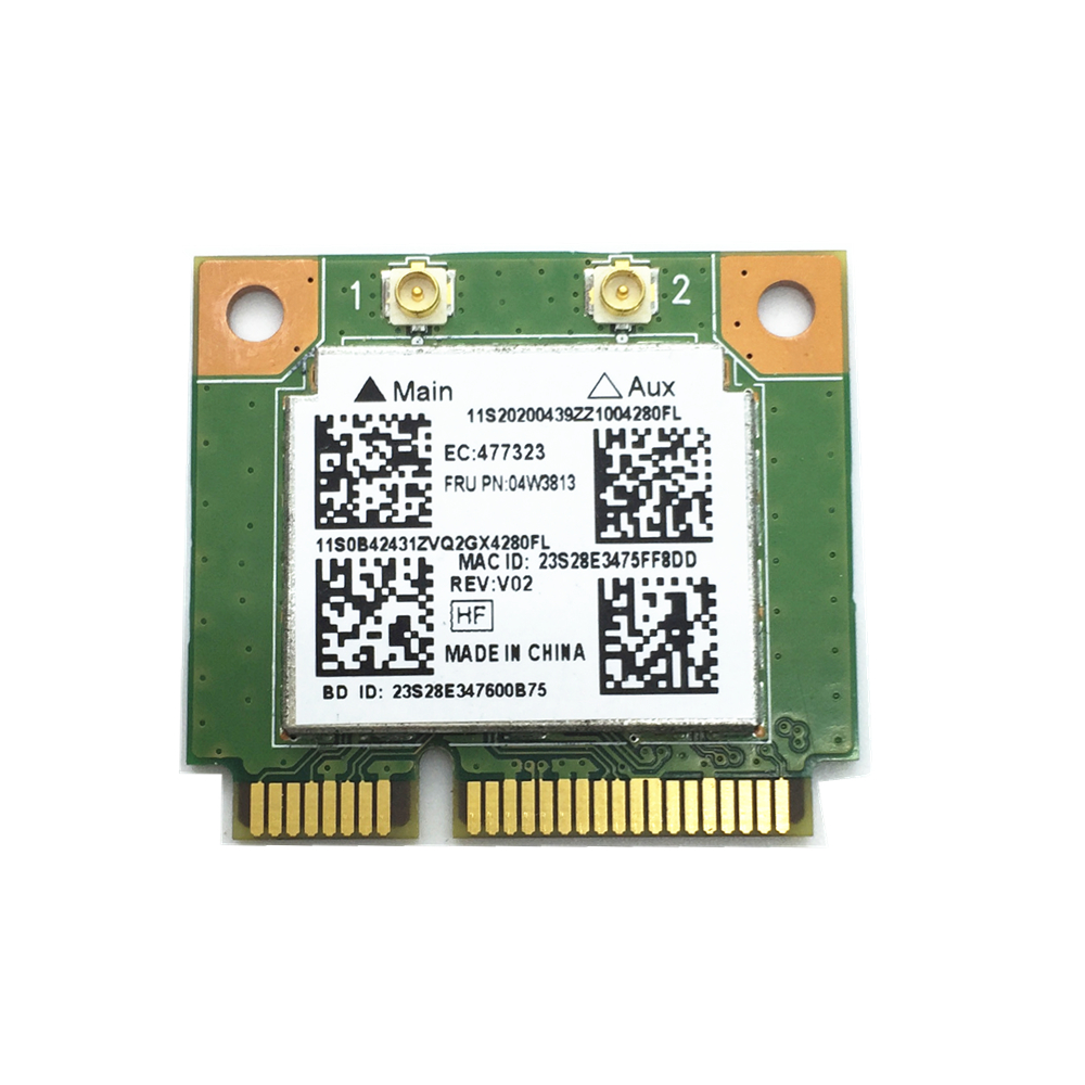 New For Realtek RTL8723BE 300M 802.11b/g/n Bluetooth 4.0 04W3813 MINI PCI Express Network Card For E540 S440 S540