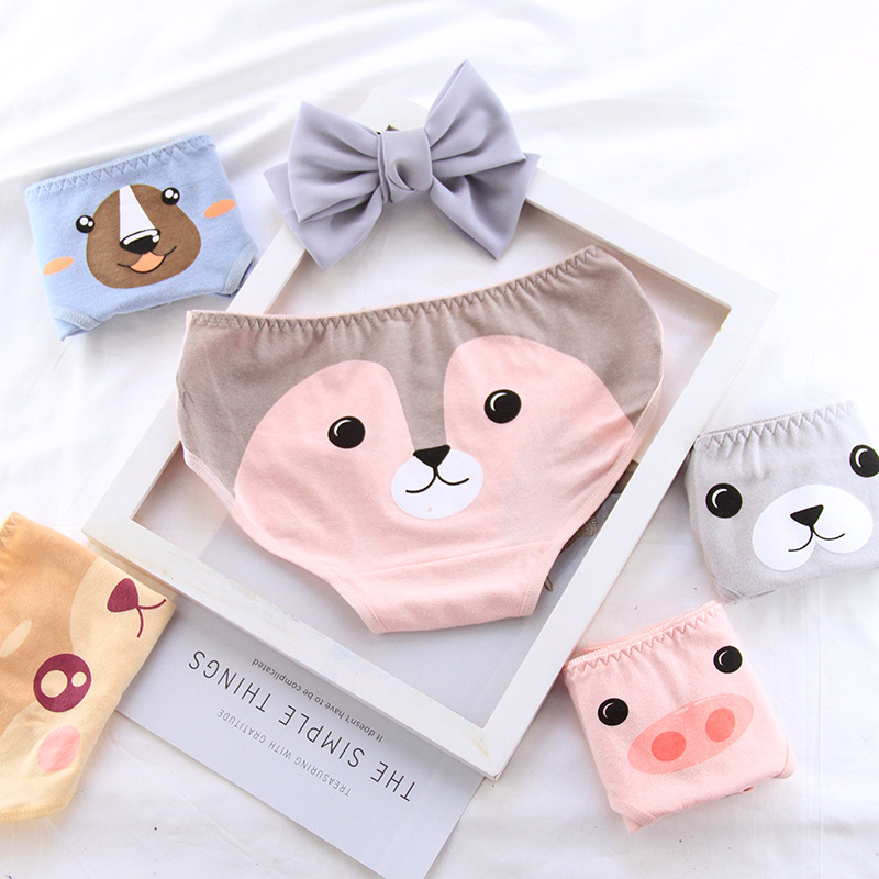 Girls Cartoon Underwear Kids Cotton Panties Teenage Short Briefs 2019 Chidlren Panties Young Girls Underwear Majtki Dziewczynka