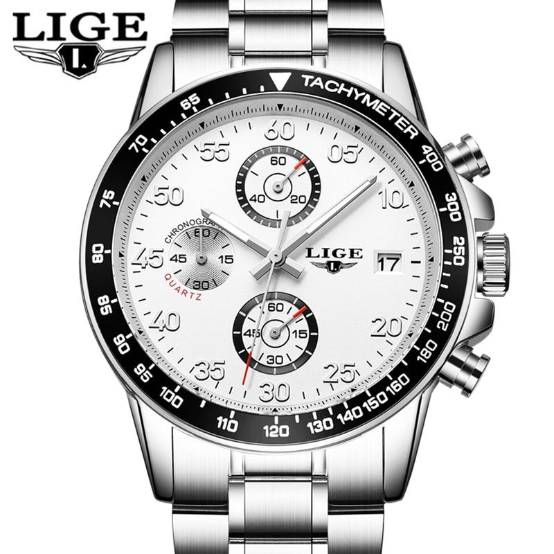 Reloj Hombre LIGE Men Watches Brand Luxury Quartz Watch Men Military Sport Wristwatch Multi-function Clock Man relogio masculino