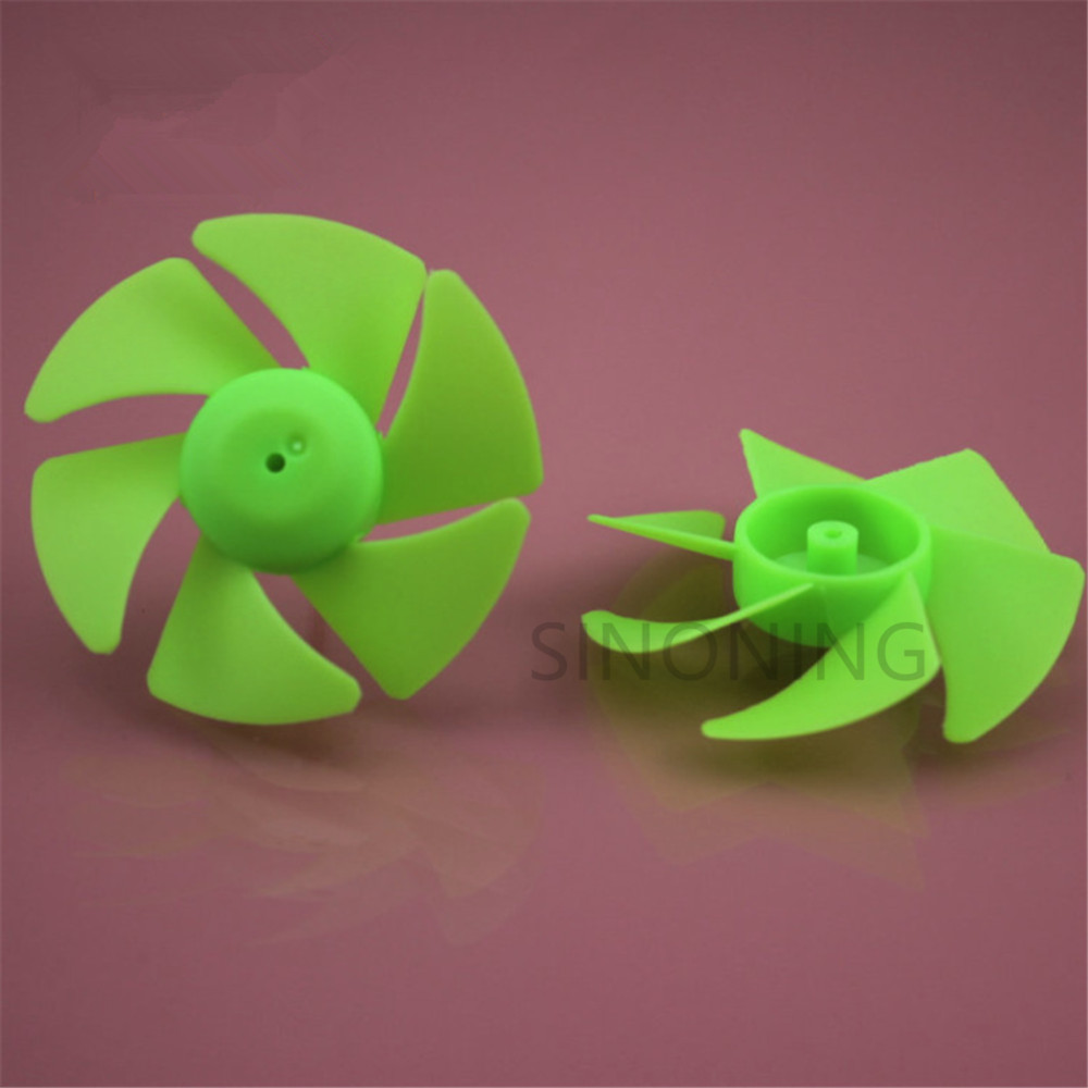 10 PCS 2A Green Turbofan Propeller Six-blade Paddle Blade Leaf Blade Technical Building Block