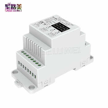 Free shipping S1-DR AC100V-240V DIN rail 2 Channel 2CH AC Triac DMX Dimmer, Dual channel output Silicon DMX512 LED controller - DISCOUNT ITEM  27% OFF All Category