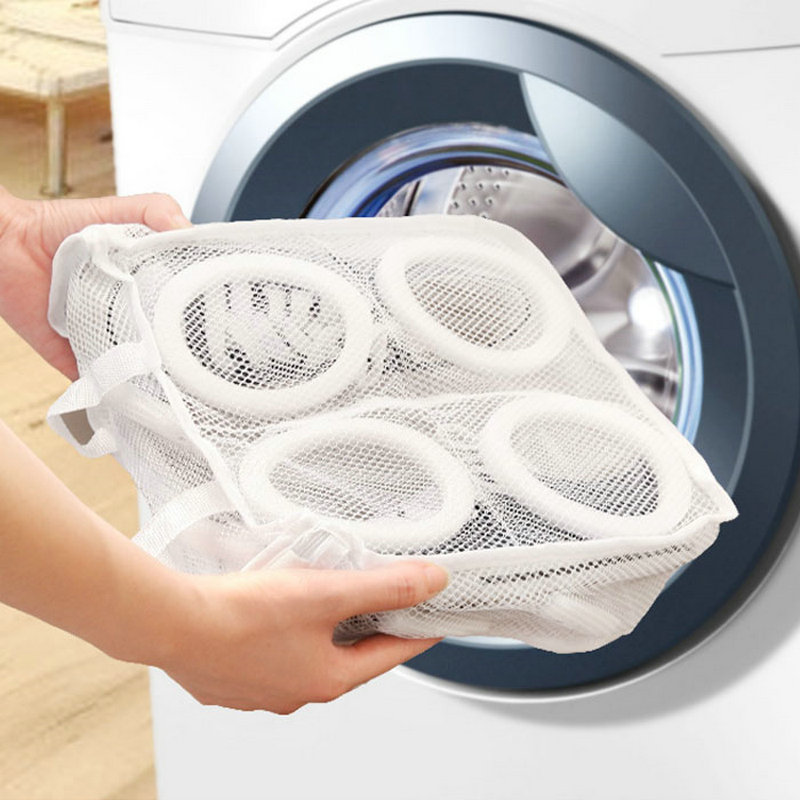 New Mesh Net Pouch Washing Bag For Shoes Machine Cleaning