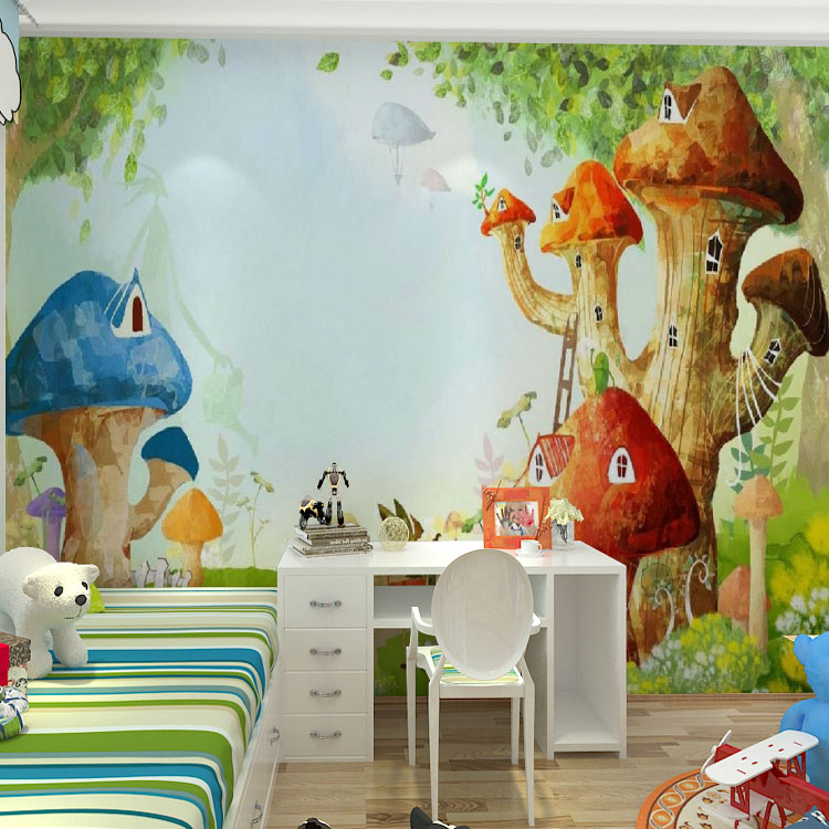 Custom photo wallpaper mural children room cartoon non-woven wallpaper living room bedroom mural wallpaper beibehang wall paper pune girl room cartoon children s room bedroom shop for environmental non woven wallpaper ocean mermaid