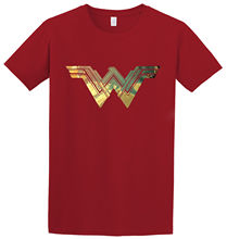 Wonder Woman Justice League Gold Metallic Logo Movie Inspired T-shirt New  Tee Unisex Funny Tops freeshipping