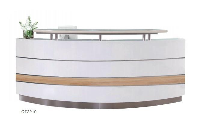 commercial modern office floor wood reception executive computer desk design furniture for sale qt2210a - Reception Desk Designs