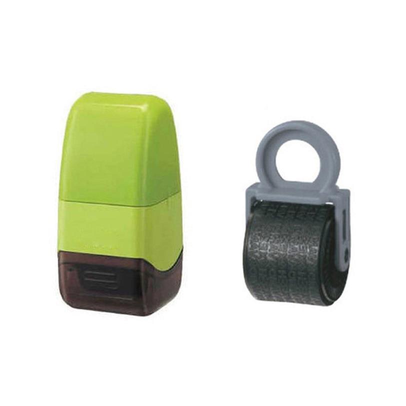 Unids 1 unidad protege tu ID Roller Stamp SelfInking Stamp desordenado Código de Seguridad Oficina