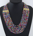2017 Bohemian Summer Jewelry Multi layer Necklace Colored Beads Necklaces Collar Choker Necklace Statement Jewelry For Women