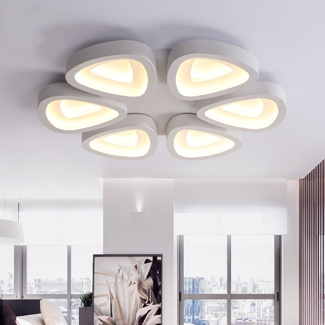 Modern heads led ceiling lights plafonnier luminarias for living light fittings bedroom kitchen lamps home led