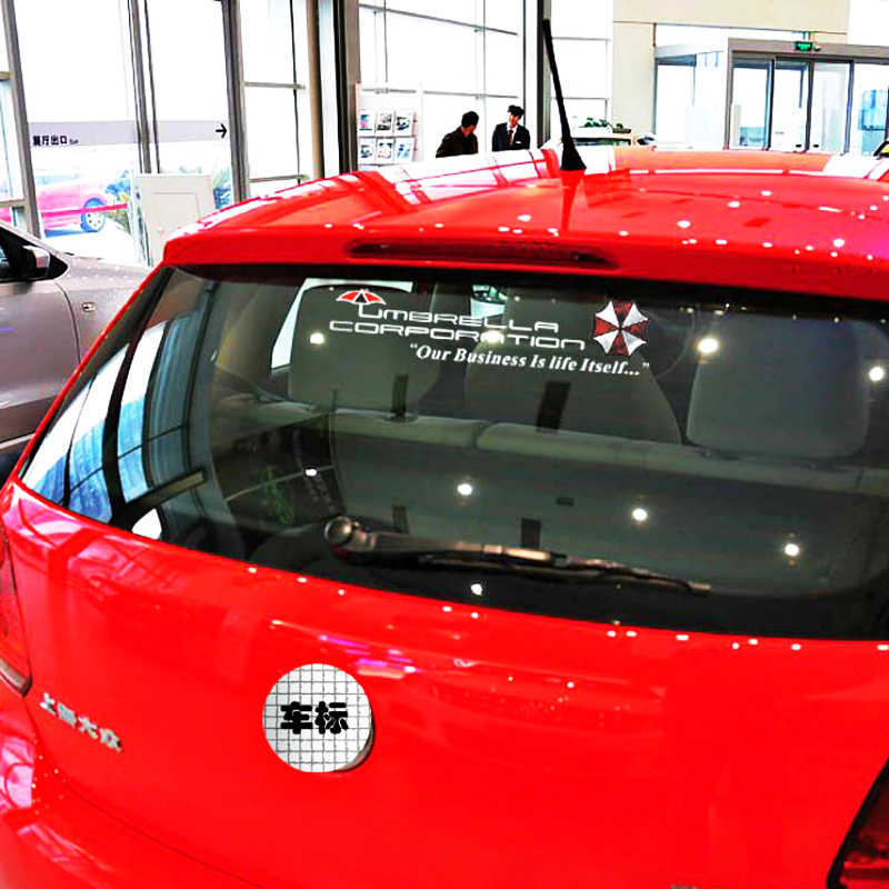 Etie 面白いアンブレラ社リアウインドシールド車のステッカーデカールフォルクスワーゲンポロゴルフアウディ A3 フォーカス 2 E90