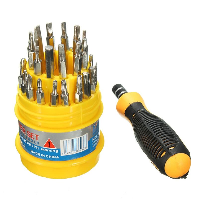 Drillpro 31 in 1 Screwdriver Set Repair Tools For Phone Computer Precision Screw Hand Tool Set