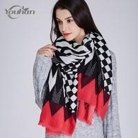 YOUHAN 2017 Women Scarf High Quality Luxury Brand Scraf Pashmina Wrap Shawl Winter Women Scarves Tassel