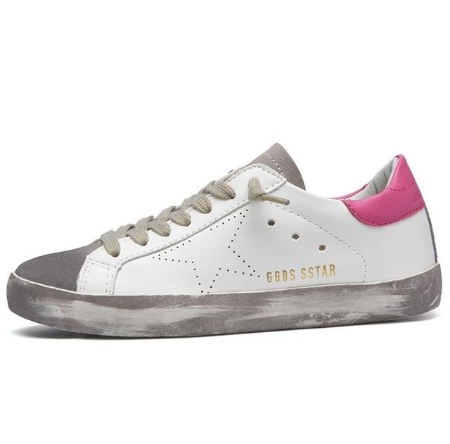 fe4912a1fc Italy Golden Goose Shoe Leather Goose Korean sneakers Men casual ...