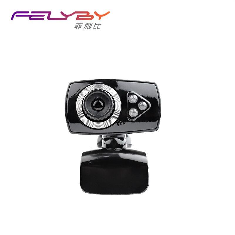 Felyby PC Камера Universal Plug & Play не требуется драйвер веб-Камера 3 мегапикселей USB 2.0 веб-камера 3 Светодиодное освещение Семья видео