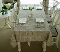 Retro English Words tablecloth toalha de mesa home decor table chair cover set toalhas de mesa bordada square tablecloths