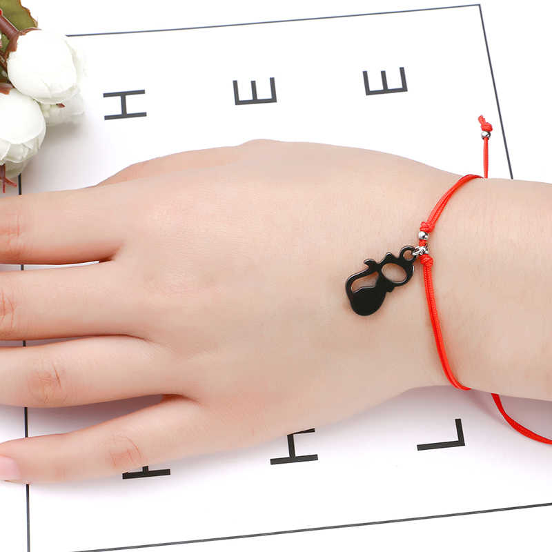 Fashion Jewelry Handmade Ceramic Lovely Cat Luck Bead Bracelet Bangle Woman Cute Red Rope Lucky Bracelet Jewelry Vintage 2018