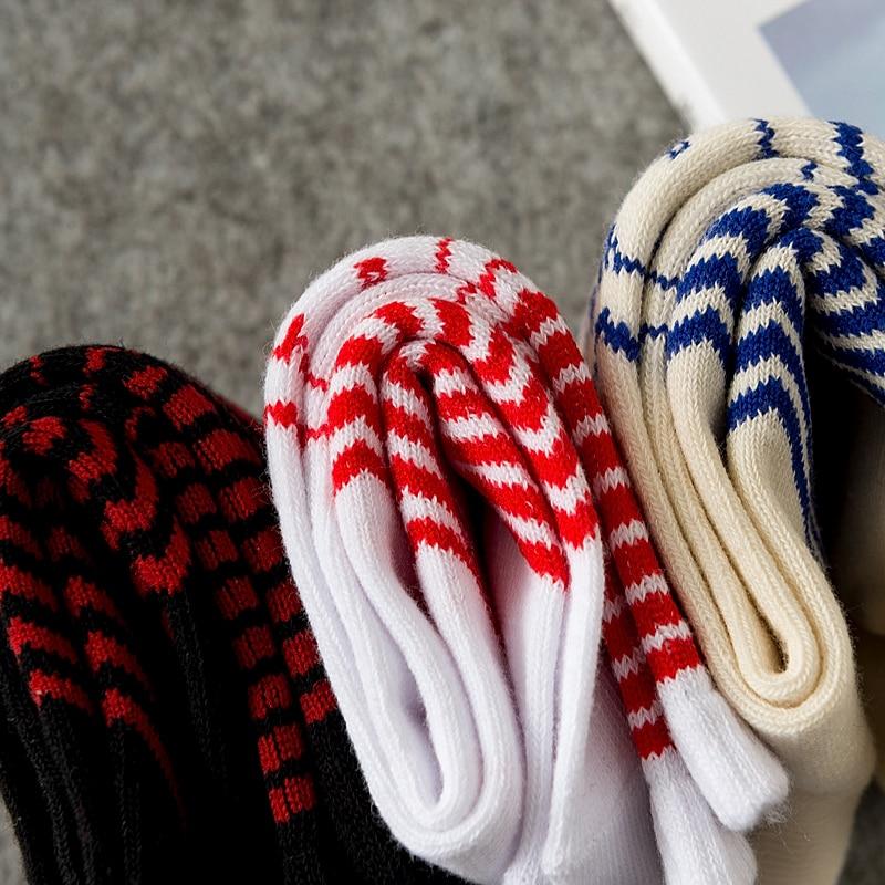 Ins Style Ulzzang Men Colored Warm Socks Suprsox Letter Patterned Socks Striped Leaves Design Sock Cotton Warm Ankle Comfort Sox in Men 39 s Socks from Underwear amp Sleepwears