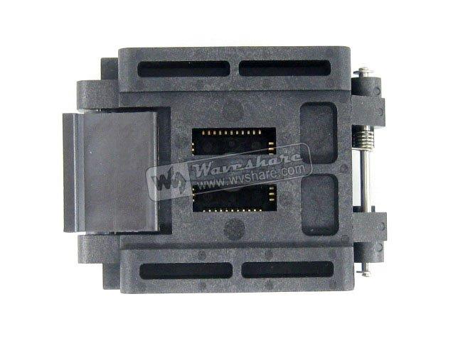 Original brand new Enplas QFP44 FPQ-44-0.8-19 Enplas IC Test Burn-in Socket block Adapter 0.8mm Pitch TQFP44 FQFP44 PQFP44 lqfp80 adapter 78k0 lf2 80gk 038x block test burn convert