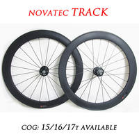 DEERACE 700c 60mm Carbon Track Clincher Wheelset 23mm/25mm Wide Fixed Gear Wheels Single Speed FIXIE WHEELS V/U Shaped Rims