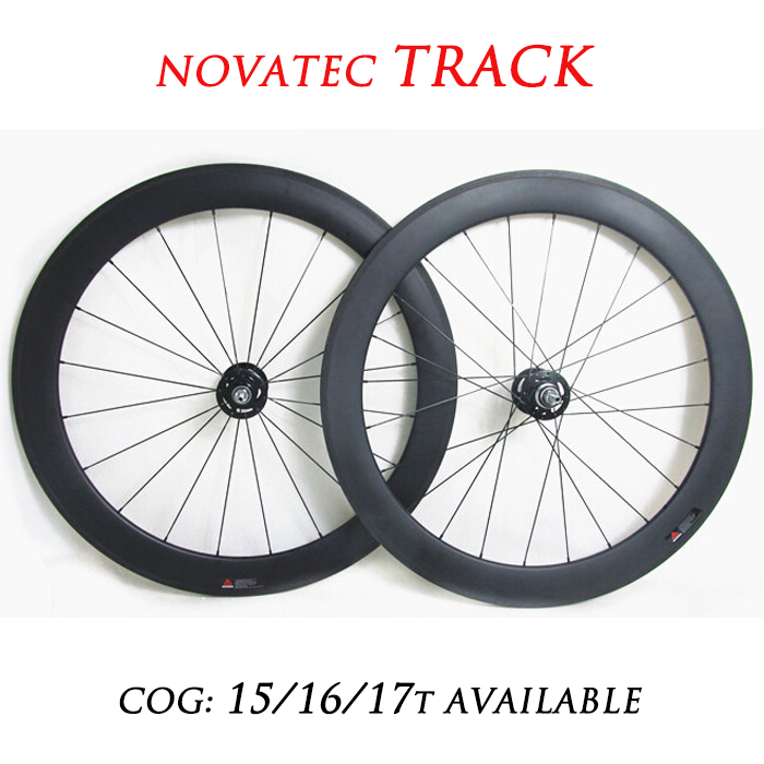 DEERACE 700c 60mm Carbon Track Clincher Wheelset 23mm/25mm Wide Fixed Gear Wheels Single Speed FIXIE WHEELS V/U Shaped Rims
