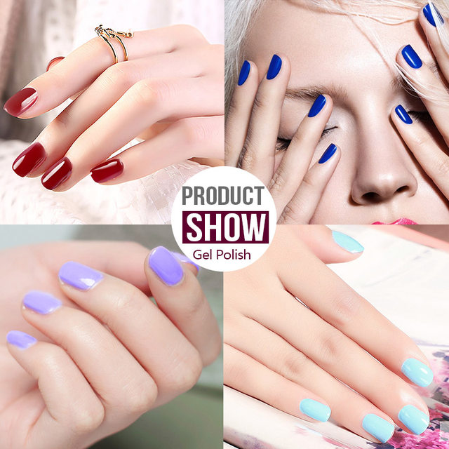 Online Shop AZURE BEAUTY Gel Nail Polish Ivory Hybrid Nail Glue For ...