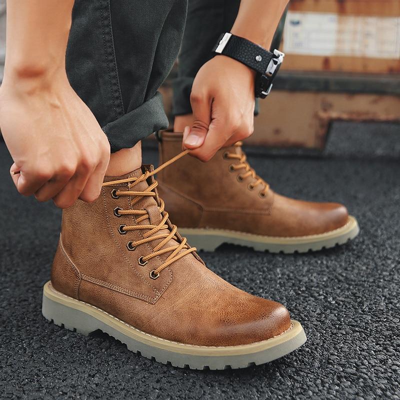 Marrom Algodão brown Black coffee Preto Forro Trabalham Inverno Homens Sapatos Botas Segurança De fSwn6q86