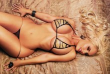 Home decoration blonde breasts eyes sexy busty erotic woman photo poster S044
