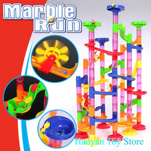 2017 Stereo Labyrinth Pipe Game ToyRace Run Track Colorful Construction Balls Rolling Track Building Blocks Toys