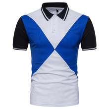 2018 Men Polo Shirt Men Colorblock Design Camisa Polo Masculina Slim  Stretchy Embroidery Pique Short Sleeves · 2 Colors Available 2d18febdc5bb4
