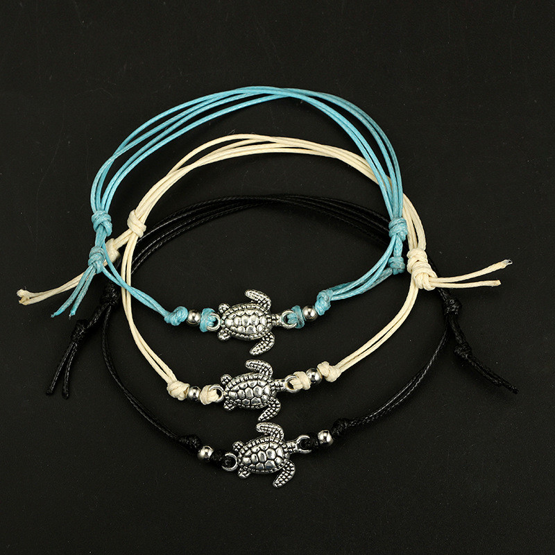Trendy Beach Turtle Anklets Bracelets Fashion Rope Silver Color Alloy Anklets Chain For Female Party Gift 5