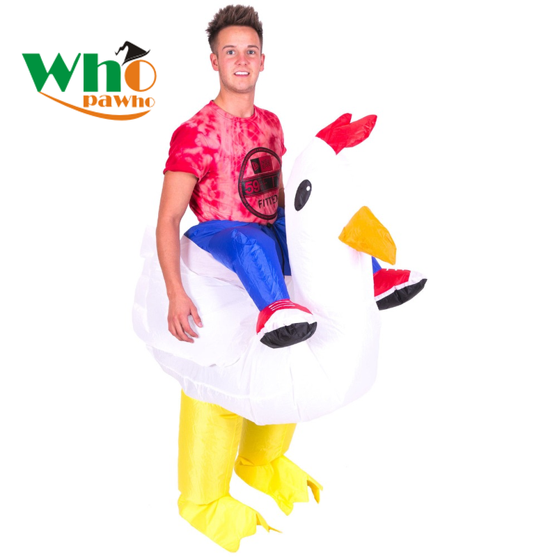 Adult Inflatable Costumes Unicorn Cowboy Cosplay Ride on Dinosaur Costume Flamingo Walking Fancy Dress Halloween Costume