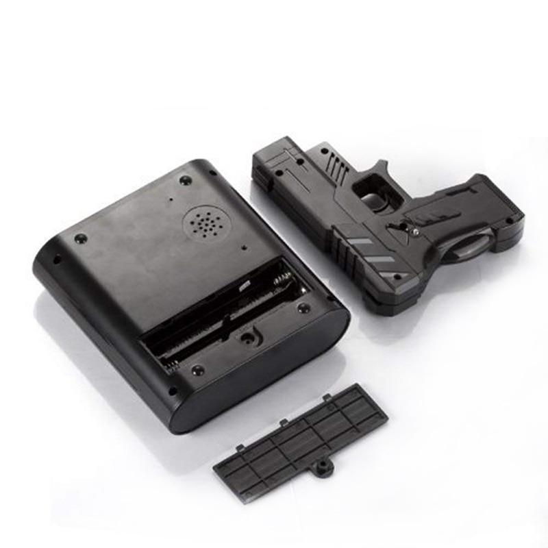 Gun Alarm Clock Target Wake Up Shooting Game Toy Novelty: Laser Shooting Gun Alarm Clock