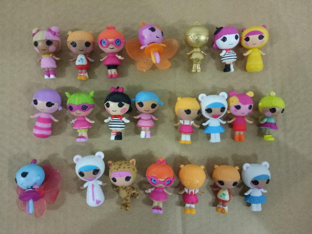 100pcs some repeat 4cm size LALALOOPSY Happy Angel action figure Doll.8-12g PVC lala loopsy girls gift Toy