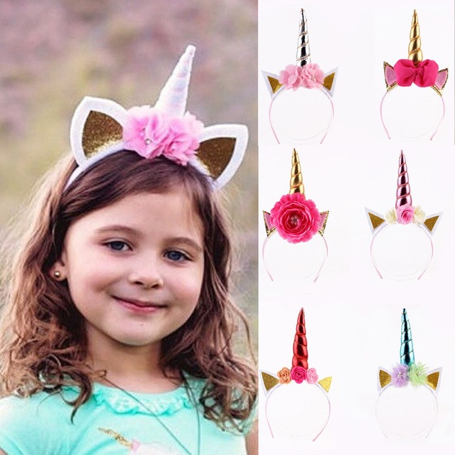 8f76dad165b Puseky Magical Unicorn Horn Head Party Hair Headband Fancy Dress Cosplay  Decorative 1PC