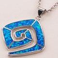 Синий Огненный Опал 925 Стерлингового Серебра Ювелирные Изделия Кулон P159