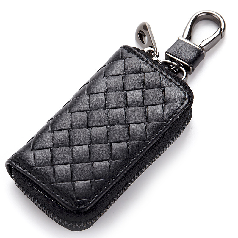 Business Man Key Holder Wallet Genuine Leather Unisex 3 Colors Organizer Bag Car Housekeeper