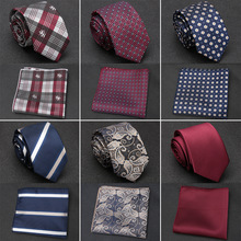 XGVOKH Men Tie Cravat Set Fashion Wedding Ties for Men Hanky