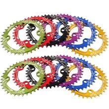 цена на 32T 34T 36T 96BCD Bicycle Aluminum Alloy Chainring Circular MTB Road Bike Crankset Plate Bike Crank Chainwheel
