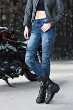 glyBROS Featherbed jeans / classic blue jeans / road riding jeans / motorcycle jeans Ms.