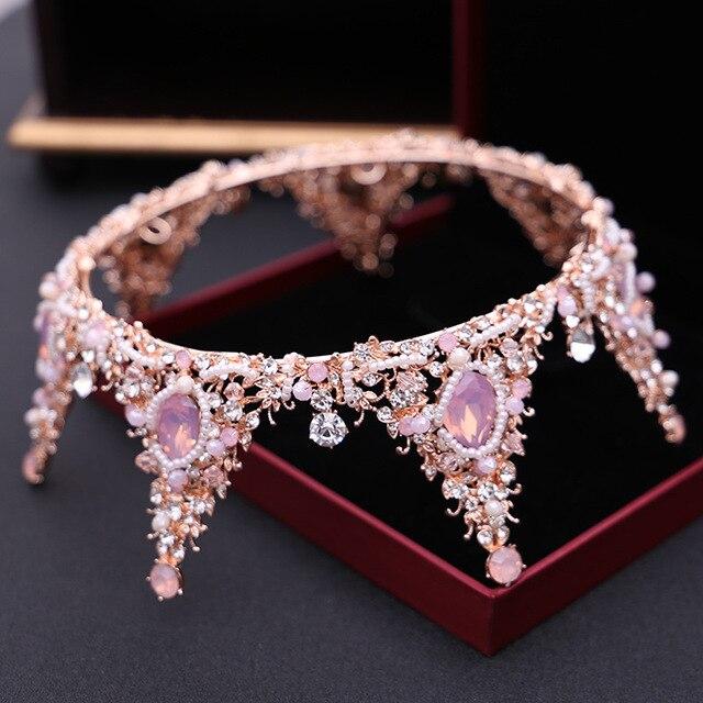 d26907ce7c26 2019 роскошный новый барокко бутик невесты корона кристалл ручной работы  большой ...