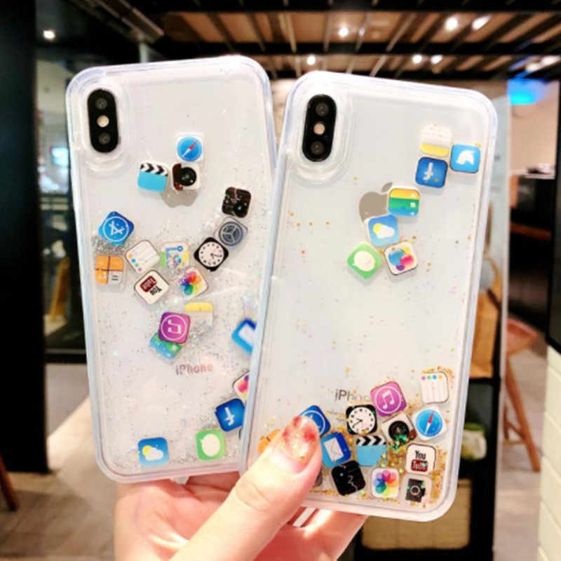 4d02fd9e7aa Quicksand funda For iPhone XS MAX 7 8 6 6s plus XR X Case Silicone Dynamic