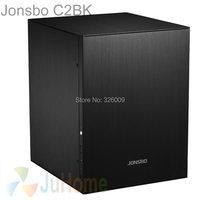 Jonsbo c2 nero c2bk, HTPC ITX Mini case del computer in alluminio, supporto 3.5 ''HDD, USB3.0, Home theater computer, altri C3 V4