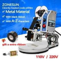 ZONESUN semi-automatic By Head Code Printer