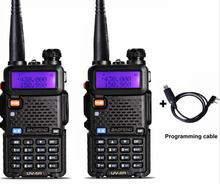 2pcs Baofeng UV 5R Walkie Talkie with Headset 400-470Mhz Frequency UHF Handheld Radio For Hunting Radio