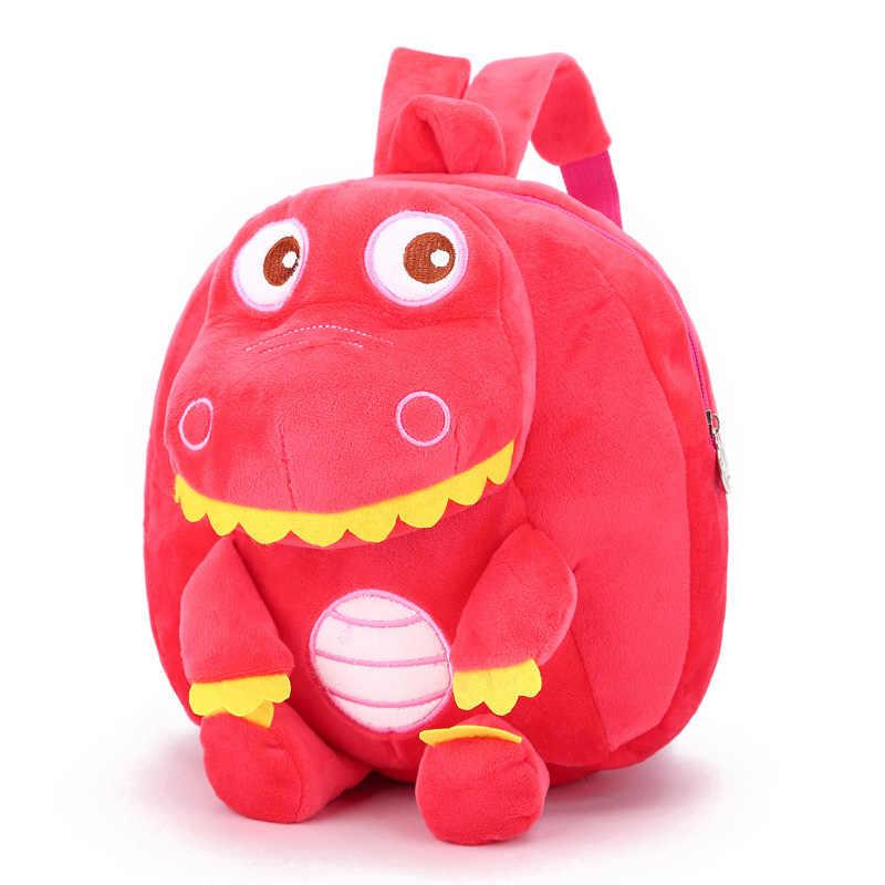 DDWE мультфильм сумка с динозавром плюшевый рюкзак для детей милые infantis животные мультфильм школьный ранец дети детские сумки, рюкзаки