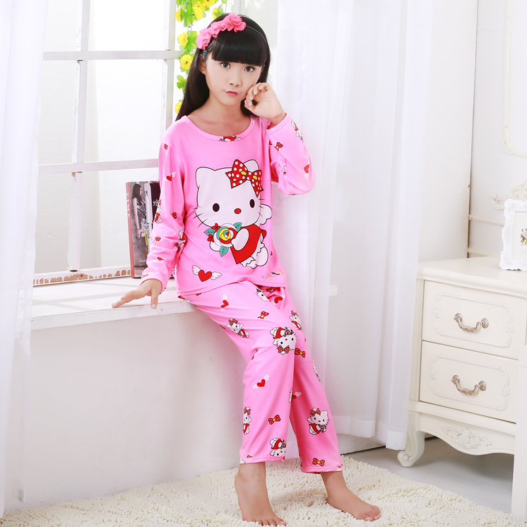f7b665856592 Hot kids pajamas sets Lovely cartoon Sleepwear Children Home wear Boys  Girls long-sleeved nightwear models ...